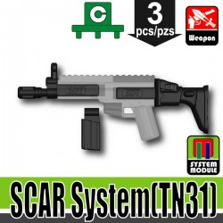 Lego Accessoires Minifigure Militaire Si-Dan Toys - SCAR System TN31 (Noir)