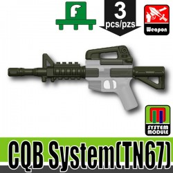 Lego Accessories Minifigure Military - Si-Dan Toys - CBQ System TN67 (Deep Gray Green)