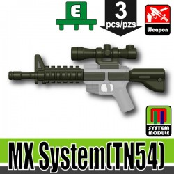 Lego Accessoires Minifigure Militaire Si-Dan Toys - MX System TN54 (Deep Gray Green)