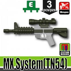 Lego Accessories Minifigure Military - Si-Dan Toys - MX System TN54 (Deep Gray Green)