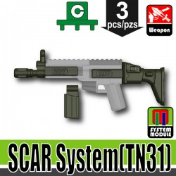 Lego Accessories Minifigure Military - Si-Dan Toys - SCAR System TN31 (Deep Gray Green)