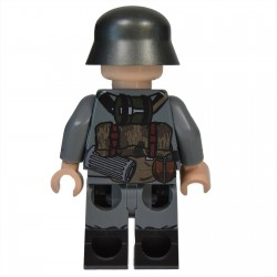 Lego Militaire United Bricks - United Bricks - WW2 German Soldier MG 30 Pouches