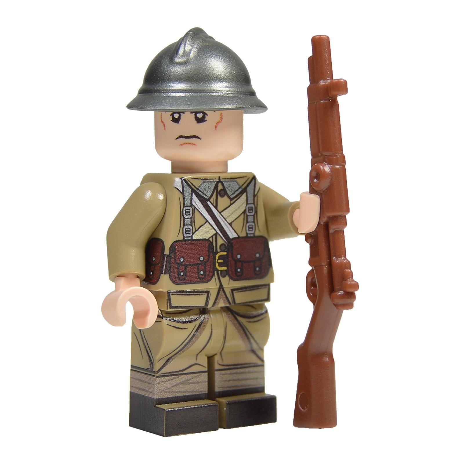 United Bricks WW2 French Soldier LEGO Minifigure Military