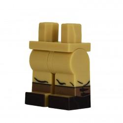 Lego Military United Bricks - United Bricks - Legs WW2 German Gaiters (Tan)