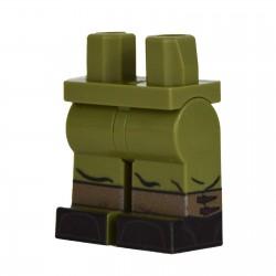 Lego Military United Bricks - United Bricks - Legs WW2 German Gaiters (Olive Green)