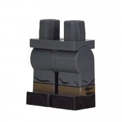 Lego Militaire United Bricks - United Bricks - Jambes WW2 Guêtres Allemandes (Dark Bluish Gray)
