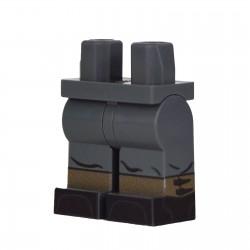 Lego Military United Bricks - United Bricks - Legs WW2 German Gaiters (Dark Bluish Gray)