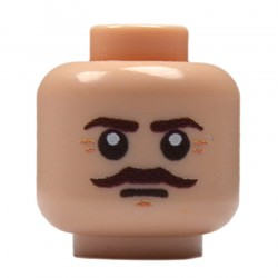 Lego Military United Bricks - United Bricks - British Moustache Head