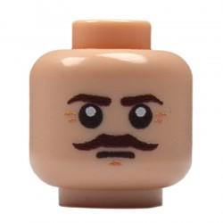 Lego Militaire United Bricks - United Bricks - Tête Anglais à Moustache (Chair)
