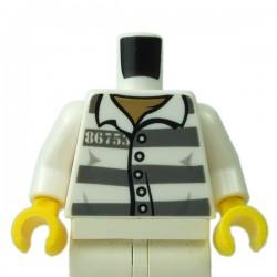 LEGO - Torse Prisonnier (Blanc) Minifigure