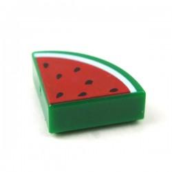 LEGO Accessoires Minifigure - Tile Rond 1x1 Quartier - Pastèque