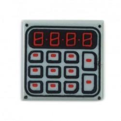 LEGO Minifigure Accessories - Light Bluish Gray Tile 1x1 - Keypad