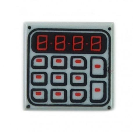 LEGO Accessoires Minifigure - Tile 1x1 Pavé numérique, Clavier