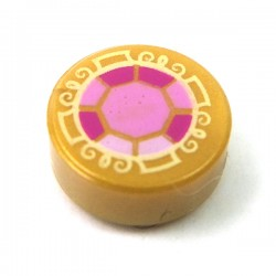 LEGO Minifigure Accessories - Pearl Gold Tile Round 1x1, Bright Pink, Dark Pink & Magenta Faceted Jewel