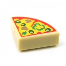 LEGO Accessoires Minifigure - Tile Rond 1x1 Quartier - Pizza (Beige)
