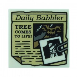 LEGO Minifigure Accessories - White Tile 2x2 Newspaper 'Daily Babbler'