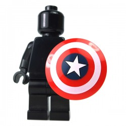 LEGO Minifigure Accessories - Red Minifig, Shield Round - Captain America Star