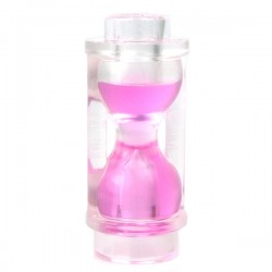 LEGO Minifigure Accessories - Trans-Clear Minifig, Utensil Hourglass, Trans-Dark Pink Sand