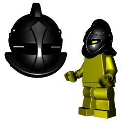 Lego Accessoires Minifigure Custom Gladiateur BrickWarriors - Casque de Secutor (Noir)