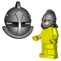 Lego Accessoires Minifigure Custom Gladiateur BrickWarriors - Casque de Secutor (Steel)