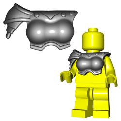Lego Accessories Minifigure Custom Gladiator BrickWarriors - Gladiatrix Armor (Steel)