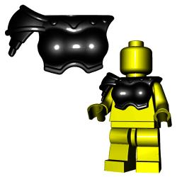 Lego Accessories Minifigure Custom Gladiator BrickWarriors - Gladiatrix Armor (Black)