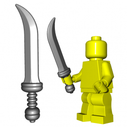 Lego Accessoires Minifigure Custom Arme BrickWarriors - Rebel Sica (Steel)