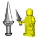 Lego Accessoires Minifigure Custom Arme BrickWarriors - Dague de Rebel (Steel)