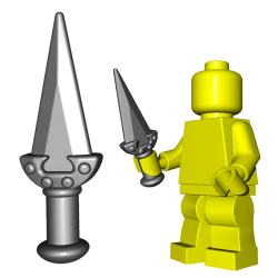 Lego Accessoires Minifigure Custom Arme BrickWarriors - Dague de Rebel (Steel)
