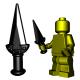 Lego Accessoires Minifigure Custom Arme BrickWarriors - Dague de Rebel (Noir)