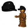 Lego Accessoires Minifigure Custom Armée Militaire BrickWarriors - Casquette Field (Noir)