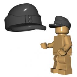 Lego Accessoires Minifigure Custom Armée Militaire BrickWarriors - Casquette Field (Gris)