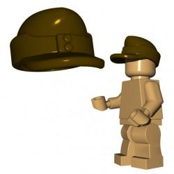 Lego Accessoires Minifigure Custom Armée Militaire BrickWarriors - Casquette Field (Beige Foncé)