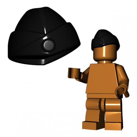 Lego Accessoires Minifigure Custom Armée Militaire BrickWarriors - Chapeau de Garnison (Noir)