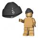 Lego Accessoires Minifigure Custom Armée Militaire BrickWarriors - Chapeau de Garnison (Gris)