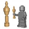 Lego Minifigure Accessoires WW2 BrickWarriors - Panzerschreck Rocket (Beige)