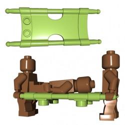 Lego Minifigure Accessoires WW2 BrickWarriors - Civière (Vert Militaire)