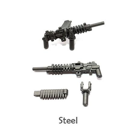 Lego Minifigure Accessoires WW2 BrickWarriors - HMG Japonais (Steel)
