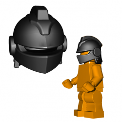 Lego Minifigure Brick Warriors - Casque de Joute (Noir)
