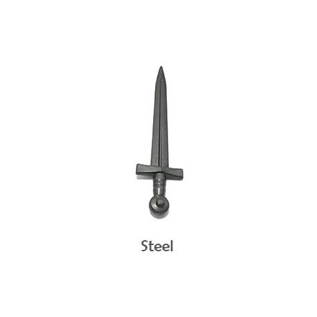 Lego Minifigure BrickWarriors - Arming Sword (Steel)