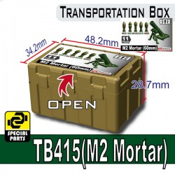 Lego Minifigure Military Army Accessories Si-Dan Toys - Transportion Box TB415 (Military Green - M2 Mortar)