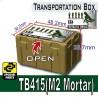 Si-Dan Toys - Transportion Box TB415 (Vert Militaire - M2 Mortar)