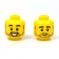 LEGO® - Tête masculine jaune, 93 (Double Visage)