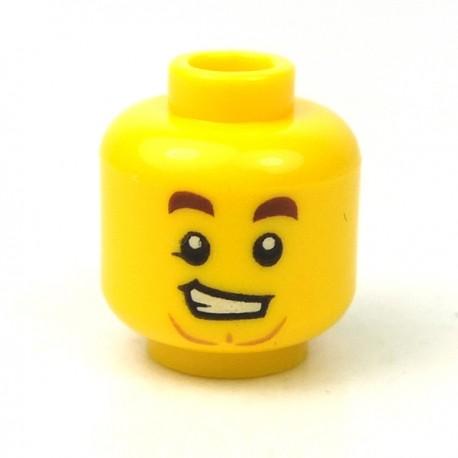 LEGO® - Tête masculine jaune, 94