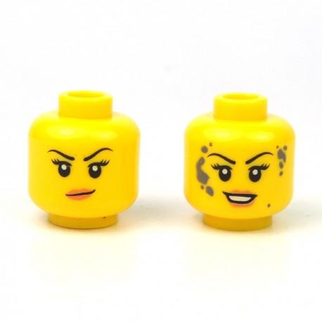LEGO® - Tête féminine jaune 25 (Double Visage)