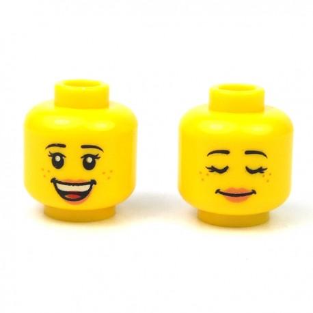 LEGO® - Tête féminine jaune 28 (Double Visage)