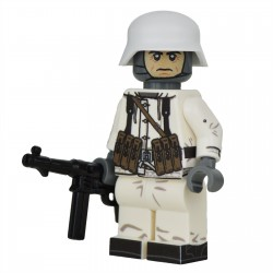 Lego United Bricks - WW2 Soldat Allemand Hiver MP40 Minifigure