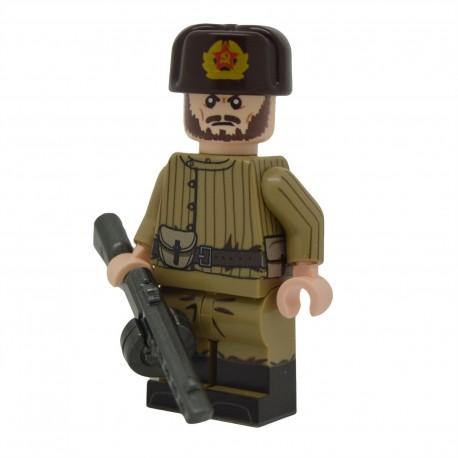 Lego United Bricks - WW2 Russe Telogreika PPSH Minifigure