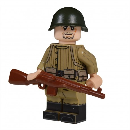 Lego United Bricks - WW2 Russe Telogreika SVT Minifigure