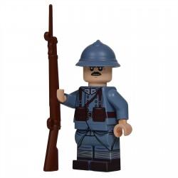 Lego United Bricks - Soldat Français (milieu/fin de la guerre) Minifigure